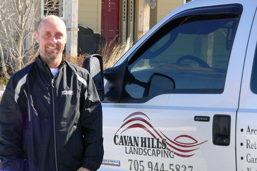 Darcy Beck, owner and operator of Cavan Hills Landscaping