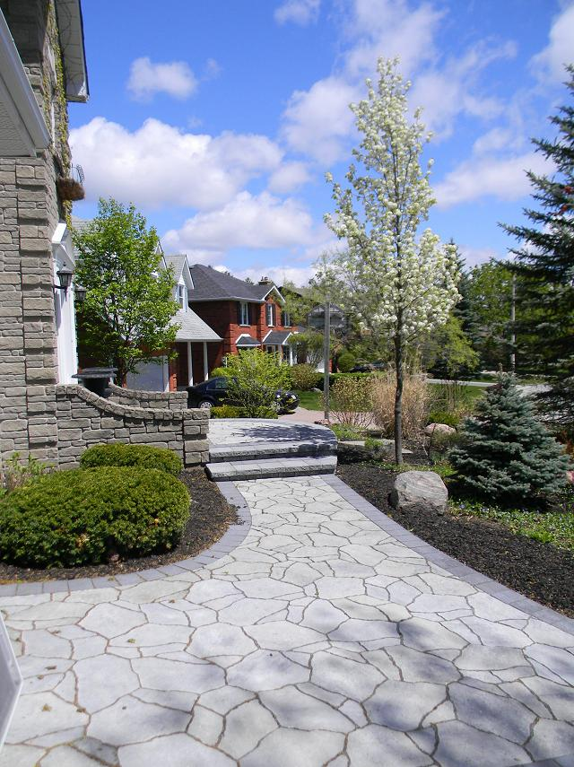 Entrance with Mega Arbel Paver and ornamental pear tree