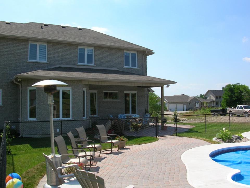Interlocking patio around pool