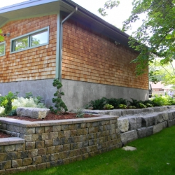 Large garden retaining wall
