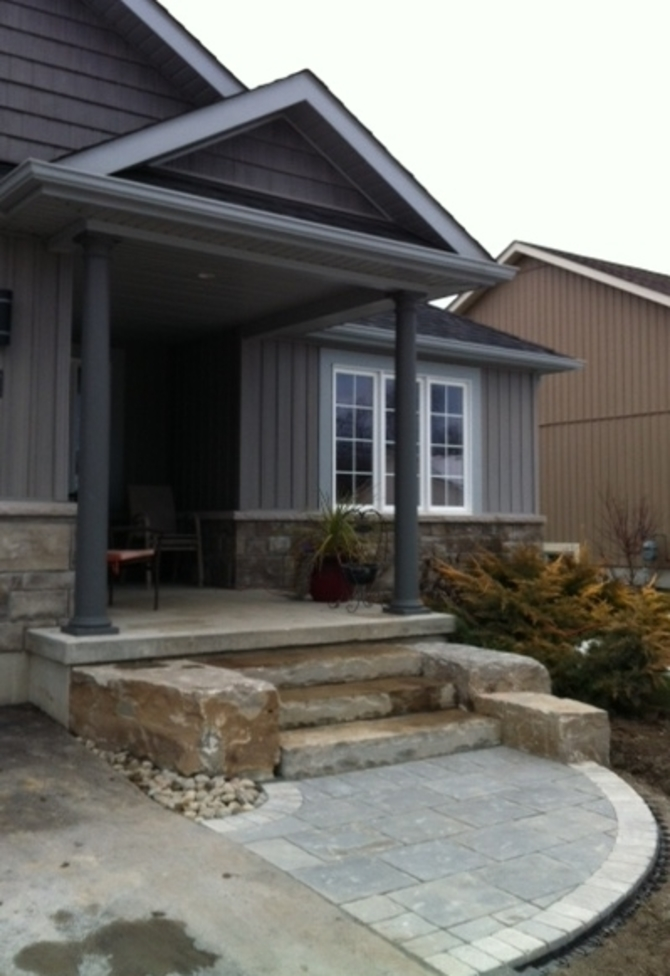 Natural Stone steps with landing