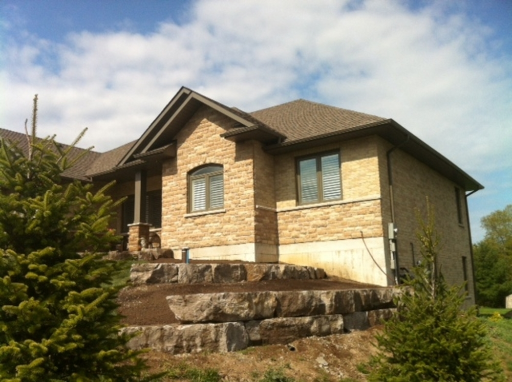 Tierred Armour Stone retaining wall